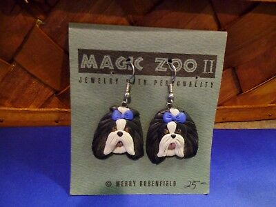 Magic Zoo ll Shih Tzu Dog Earrings,French Wire-New