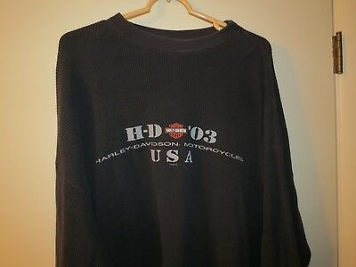 Harley Davidson Long Sleeve Pullover, Size XXL, Good Condition