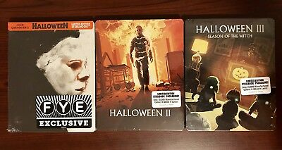 Halloween 1,2,3 Steelbook Lot (Blu-ray Disc, Limited Edition) Sealed!