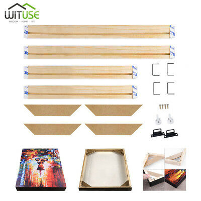 DIY Wooden Bar Frame Kit For Canvas Painting Art Stretcher Strip Gallery Wrap 1