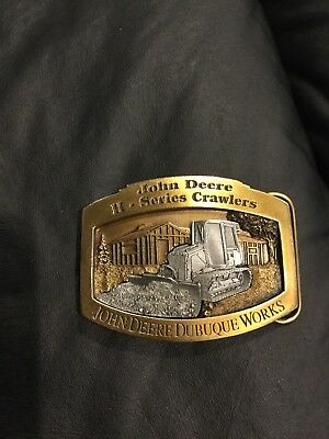 2000 John Deere Dubuque H Series 450H Crawler Tractor Belt Buckle Ltd Ed 181/500