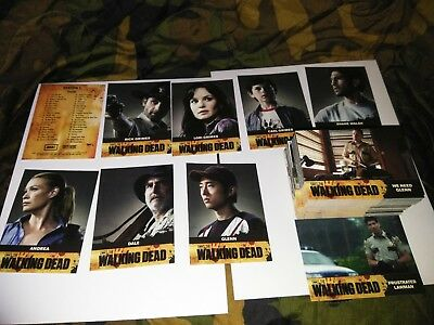 The Walking Dead Trading Cards COMPLETE SEASON 1 ONE 81-Card Set Cryptozoic AMC