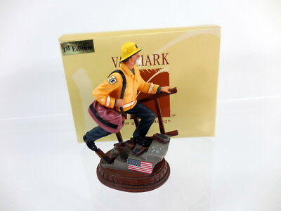 VANMARK 1st Edition Firefighter EMT with American Flag, Fireman, figure, statue