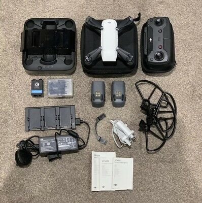 DJI Spark Drone with Controller, 3 Batteries, DJI Portable Charger & accessories