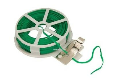 Garden Wire, Green Twist Tie Reel, PVC Coated Plant Support,Flexible,2mm x 30m
