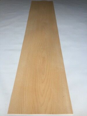 Maple Veneer - NATURAL WOOD Sheet - 1400mm x 290mm (55.1 x 11.4 inches)