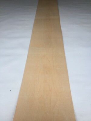 Maple Veneer - NATURAL WOOD Sheet - 3080mm x 240mm (121.2 x 9.4 inches)