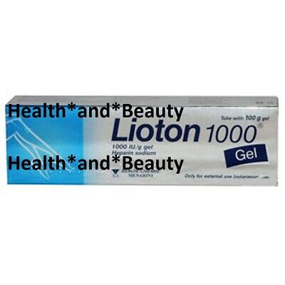 Lioton 1000 100g Pain Relief Gel Varicose Vein Bruises Scar SAME DAY DISPATCH