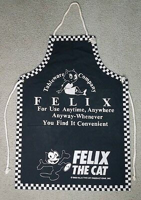 Vintage Felix the Cat Apron Dated 1988 Rare Find!!