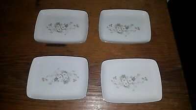 Princess House Or Fiesta White Blossom Oblong Nibble Dishes X 4