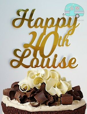 Marvelous Happy 40Th Cake Topper 16 18Th 21St 30Th 50Th 60Th Birthday Any Funny Birthday Cards Online Alyptdamsfinfo