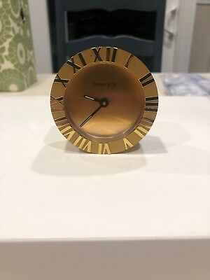 Tiffany and Co. Atlas Desk or Bedside Round  Alarm Clock