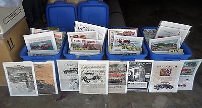 Vintage Magazine Car Ads: 2100+ Individual Sleeved & Boarded for Your Business