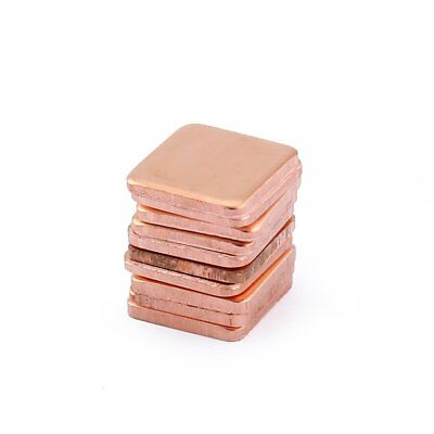10pcs 1.8mm Pure Copper Heatsink Shim Thermal Pad for Laptop Graphics Card