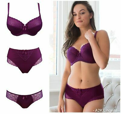 Pour Moi Electra Mulberry Side Support Bra, High Waist Brief or Brief