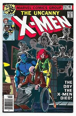 Uncanny X-Men #114 (1978) The Day The X-men Died - Byrne Art F/VF or Better - NR