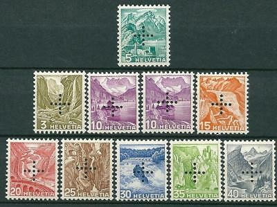 Switzerland 1936 - Officials - All Mint Hinged Exept The First Is MNH