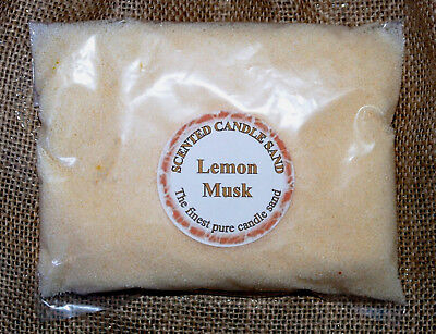 Candle Making Sand Lemon Scented Yellow. 700g Sand Bulk Craft Clearance Bargain