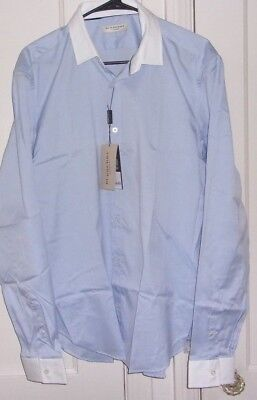 9e8814bef536 Burberry London Mens 16.5- 28 New with Tags Button Front Long Sleeve Shirt