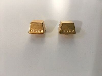 FENDI Gold Tone Metal Buttons