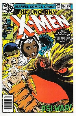 Uncanny X-Men #117 (1979) Professor X -PSI War! Byrne Art - High Grade VF/VF+ NR