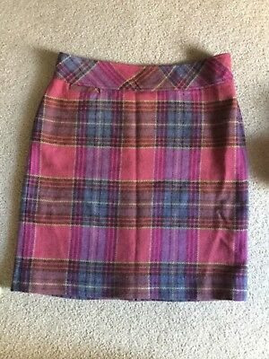 affe7443a5 LL BEAN Women's A-Line Pencil Wool Blend Lined Plaid Skirt Size 12 Regular