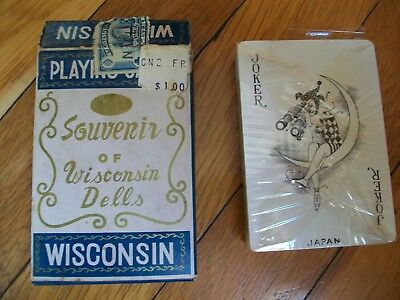 Vintage Playing Cards Wisconsin Dells Souvenir Sealed In Shrink