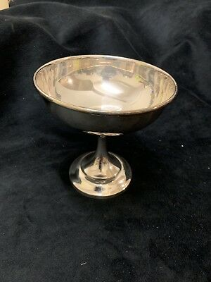 Silver Plate Chalice Bowl Trophy Vintage