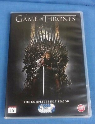 Game Of Thrones Complete Season 1 Dvd 5 Disc Box Set Region 2