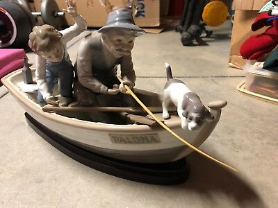 lladro 5215 fishing with gramps with original box