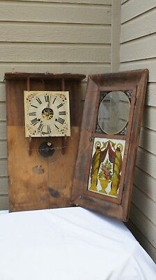 Old Unsigned 30 Hour O.G. Clock Parlor clock  Parts