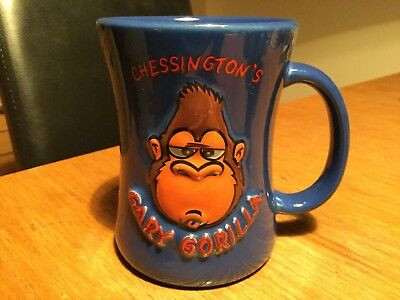 Chessington World Of Adventures Gary Gorilla Blue 3D Mug VGC!