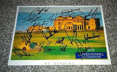 Alfred Dunhill Links Championship  2018 Multi Signed Photo