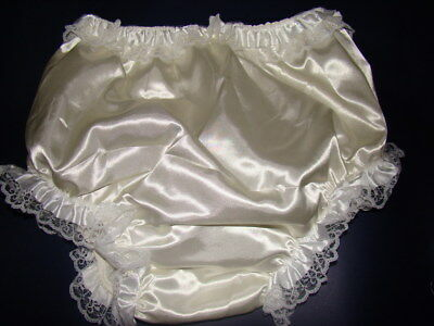 New Adult   Sissy Satin Frilly Diaper Cover #FSP08-4,Large
