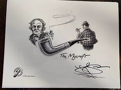 DIRECT FROM LARRY GOSSER SIGNED PRINT THE Mycroft