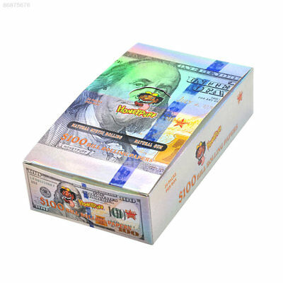 8A9D Cigarette Rolling Paper Tobacco Papers Honepuff $100 Dollar Bill 110mm