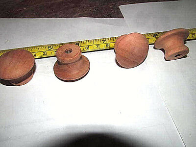 "50 Pieces New Unfinished Cherry 1 1/4"" Round Wood Cabinet Knobs / Pulls Kj"