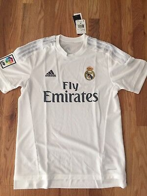 77d714ca81e Real Madrid home soccer jersey by Adidas - size M - brand new with tags