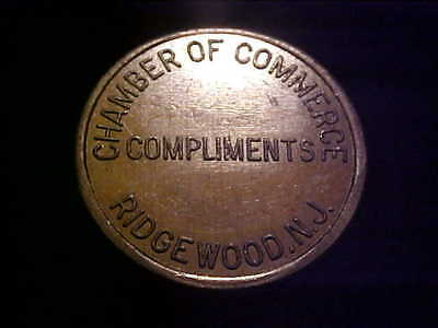Ridgewood Nj  Parking Token 3780 B 22 Mm Alu # E-1-Z