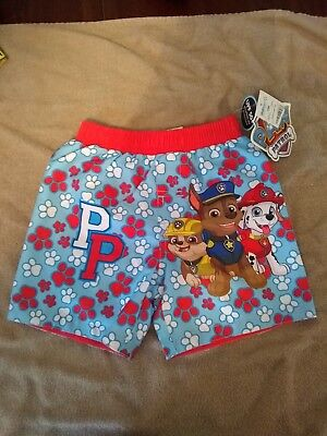 b3bd1de7179bc Boys Paw Patrol Marshall Chase Rubble Swim trunks suit Size 24 months NEW