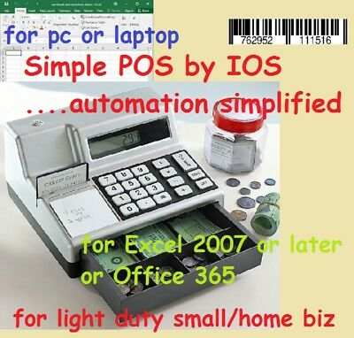 Simple POS by IOS - Your Excel Based POS System - PC or Laptop - Barcode Scanner