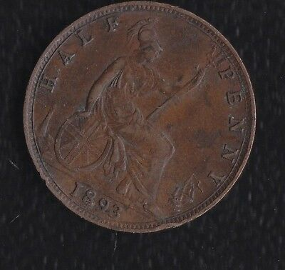 Great Britain Half Penny 1893