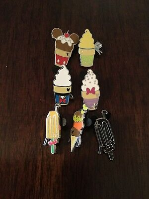 Disney 2018 Hidden Mickey Series Ice Cream Treats Pin Set