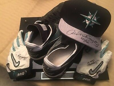 213ec07cdc1 Alex Rodriguez 1998 Game Used Cleats And Autographedbatting Gloves And  40 40 Cap