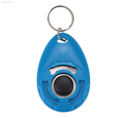 377B Pet Dog Training Clicker Trainer Teaching Tool Multi Color With Keychain
