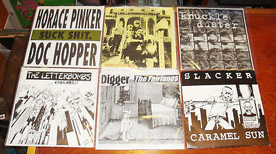 "Lot of 6 Punk 7"" Vinyl Records, Letterbombs, Knuckle Duster, Digger/Fairlanes .."