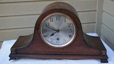 Antique Working Mission Style Westminster Chime Mantle Clock 1920's!