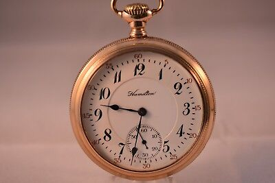 Antique 16s Hamilton 992 21j Railroad Grade Pocket Watch
