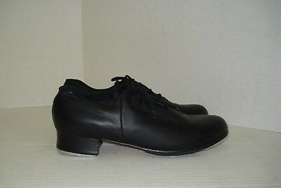 Bloch Shockwave Black Leather Women's Tap Dance Lace Up Shoes, Size 9.5 N
