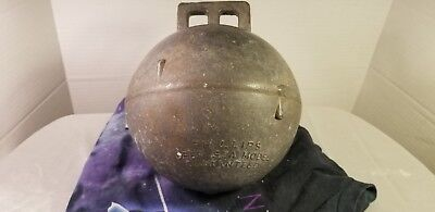 "Vintage 8"" Phillips Trawl Products England Deep Sea Fish Net Metal Float Buoy"